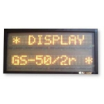 Display Multiriga 2 righe GS-50/2R carattere 5 cm