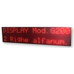 Display Multiriga 2 righe G-200/2R carattere 12 cm
