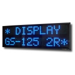 Display Multiriga 2 righe GS-125/2R carattere 12 cm