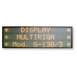 Display Multiriga 3 righe G-130/3R carattere 8 cm