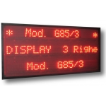 Display Multiriga 3 righe GS-85/3R carattere 5 cm