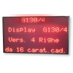 Display Multiriga 4 righe G-130/4R carattere 8 cm