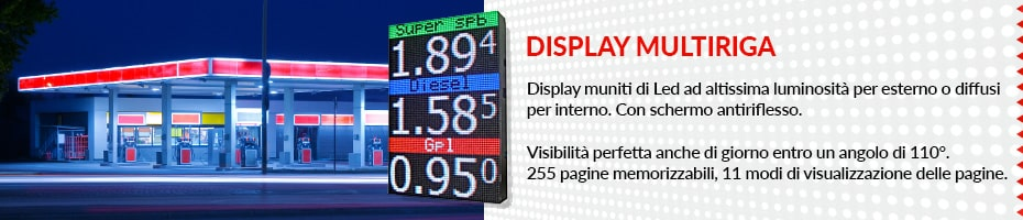 display multiriga carburanti